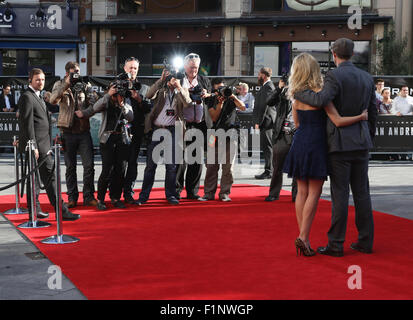 London, UK, 21st May 2015: General view at the World Premiere of San Andreas at the Odeon Cinema Leicester Square - Stock Photo