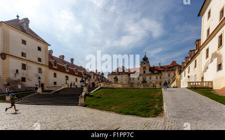 Castle, Valtice, UNESCO, South Moravia, Czech Republic, Europe - Stock Photo