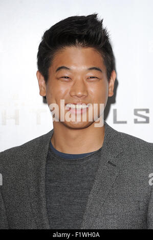 London, UK. 7th September, 2015. American actor Ki Hong Lee attends the Maze Runner: The Scorch Trials UK Fan Event - Stock Photo
