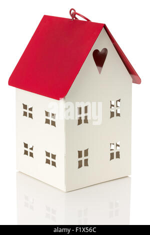 little decorative house isolated on the white background. - Stock Photo