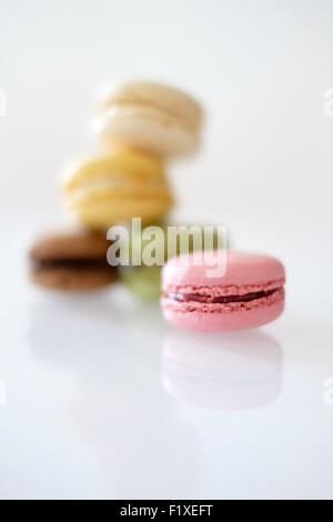 Pile of colorful macaroons - Stock Photo