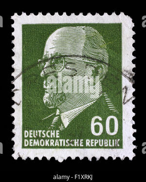 Stamp printed in German Democratic Republic - East Germany shows Chairman Walter Ulbricht, circa 1961 - Stock Photo