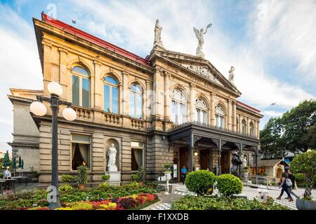 Costa Rica, San Jose, downtown, the National Theatre - Stock Photo