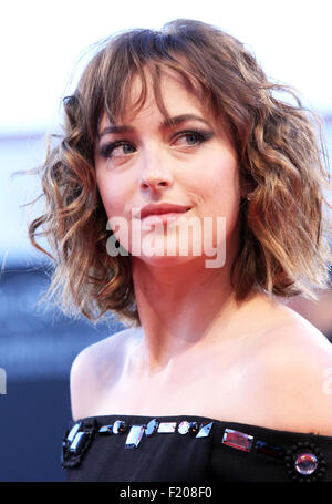 Actress Dakota Johnson at the red carpet of the movie 'A Bigger Splash' (director Luca Guadagnino) presented at - Stock Photo