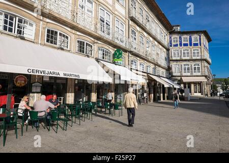 Portugal, North region, Guimaraes, historical center listed as World Heritage by UNESCO, Largo do Toural is the - Stock Photo