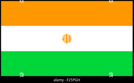 Fahne: Niger/ flag: Niger. - Stock Photo