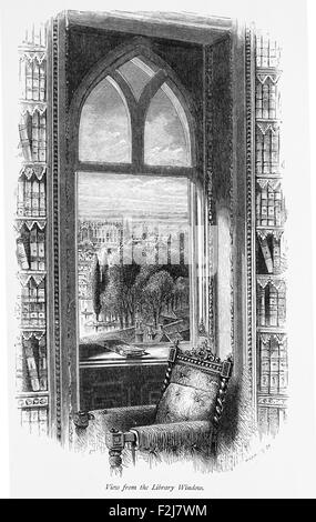 Charles 1st View from Hampton Court Palace Window_Illustration from 'The British isles,Cassell Petter & Galpin Part - Stock Photo