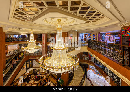 Interior view of Metropole Shopping Center in Monte Carlo, Monaco. - Stock Photo