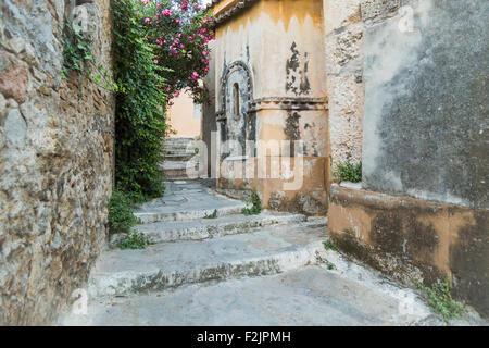 Walkway in Plaka Athens Greece - Stock Photo