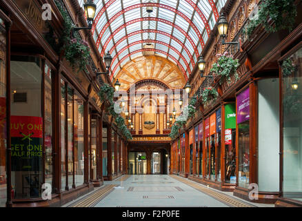 Central Arcade, an Edwardian (1906) shopping arcade in Newcastle upon Tyne, Tyne and Wear, England, UK - Stock Photo