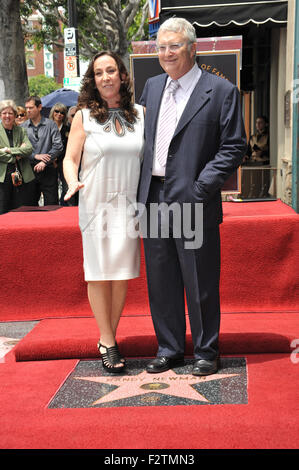 LOS ANGELES, CA - JUNE 2, 2010: Composer Randy Newman & wife Gretchen Preece on Hollywood Boulevard where Newman - Stock Photo