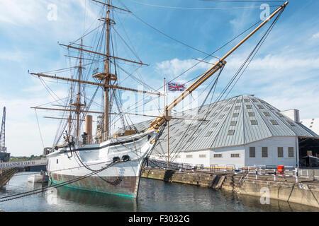 HMS Gannet Chatham Historic Dockyard Chatham Kent UK - Stock Photo