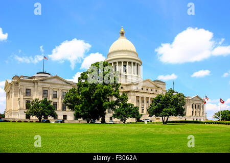The Arkansas State Capitol building located in Little Rock. Built over 16 years from 1899-1915 - Stock Photo