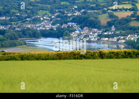 A view of St Dogmeals and the Teifi estuary - Stock Photo