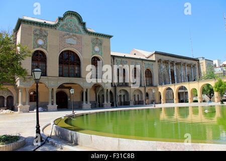 Yard of Masoudieh palace, Tehran, Iran - Stock Photo