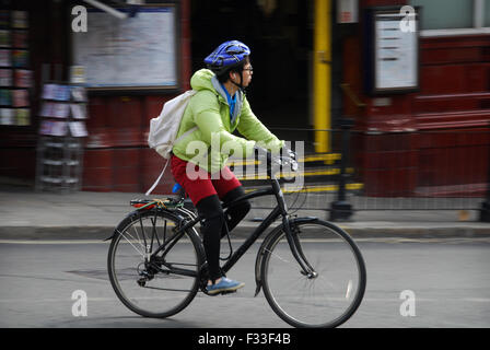 cycling in Hampstead London UK - Stock Photo
