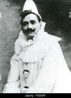 ENRICO CARUSO (1873-1921) Italian  tenor in Leoncavello's opera Pagliacci - Stock Photo
