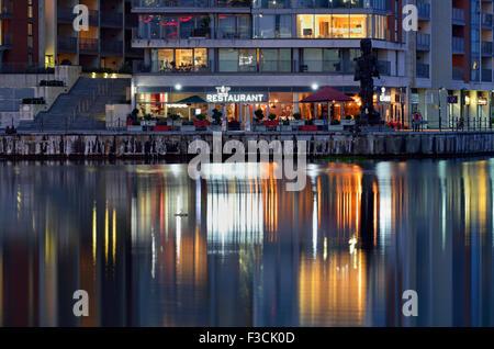 Restaurant, Royal Victoria Dock, London Borough of Newham, London E16, United Kingdom - Stock Photo