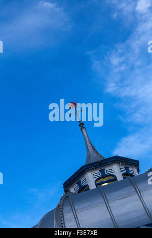 Cupola on Amusement Arcade at End of Llandudno Pier - Stock Photo