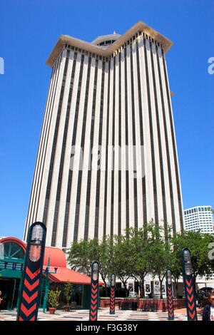 World trade center WTC new Orleans non profit organization started 1943 ; Canal street ; New Orleans ; Louisiana - Stock Photo