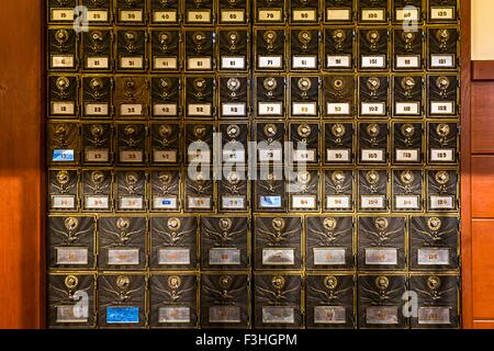 Old fashioned mailboxes - Stock Photo