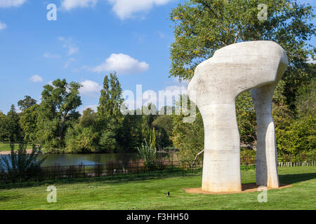The Arch sculpture by Henry Moore in Kensington Gardens, London. - Stock Photo