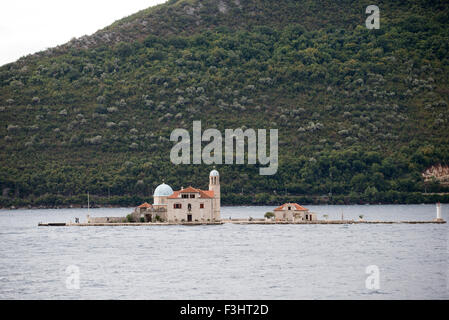 Our Lady of the Rocks, Perast, Bay of Kotor, Montenegro - Stock Photo