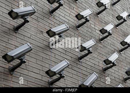 Security,Canada,CCTV,Surveillance Camera - Stock Photo