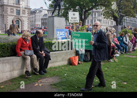 London 10th October 2015: The white middle-classes gathered in Parliament Square to protest against plans for a - Stock Photo