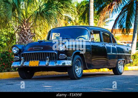 Oldtimer in Havana, Cuba - Stock Photo