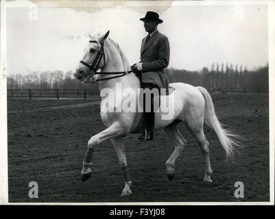 Jan. 10, 1959 - The World famous Lippizzans (white horse) of the Spanish Court Riding School of Vienna have come - Stock Photo