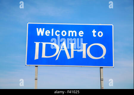 Welcome to Idaho sign - Stock Photo