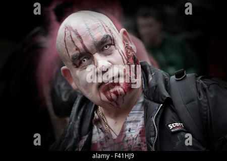 Zombie man in London - Stock Photo