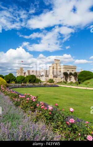 Rockingham Castle, near Corby, Northamptonshire, England, UK - Stock Photo