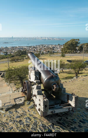 Montevideo as seen from its fortress hill - Stock Photo