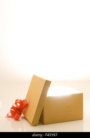 Opened gift box - Stock Photo
