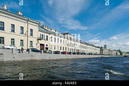 Near the Fontanka river .View of  ancient buildings .Saint-Petersburg, Russia.June 4, 2015 - Stock Photo