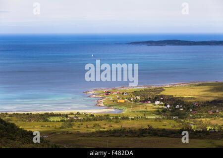 Panoramic view from Senja Island, Norway - Stock Photo