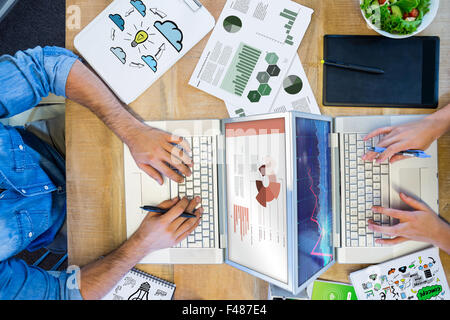 Composite image of flowchart graphic - Stock Photo