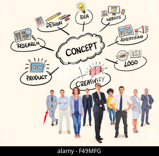 Composite image of business team - Stock Photo