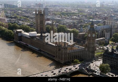 London, UK. 21st May, 2015. Photo taken on May 21, 2015 shows a view of London. London, located in southeastern - Stock Photo