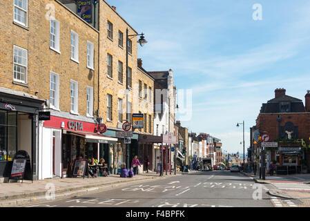 High Street, Highgate Village, Highgate, London Borough of Haringey, Greater London, England, United Kingdom - Stock Photo