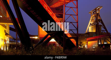 Zollverein with headframe, Essen, Germany - Stock Photo