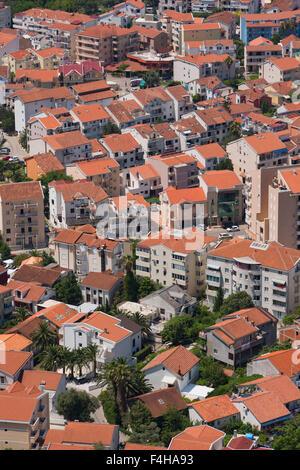 Budva, Montenegro. Rooftop view. - Stock Photo
