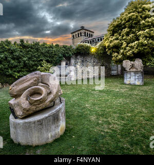 Sculpture in Santillana del Mar, Cantabria, Spain - Stock Photo