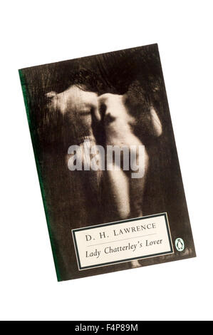 Paperback copy of Lady Chatterley's Lover by D. H. Lawrence.  First published in 1928. Cover shows Adam and Eve - Stock Photo