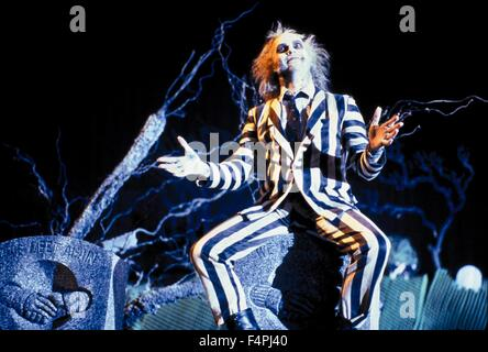 Michael Keaton / Beetlejuice / 1988 directed by Tim Burton [WARNER BROS.] - Stock Photo