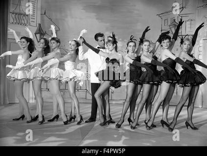 Jean Bretonniere and Brigitte Bardot / Naughty Girl / 1955 directed by Michel Boisrond [Comacico / Sofradis / Lutetia] - Stock Photo