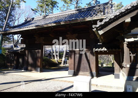 Gate of Japanese Traditional House in Edo-Tokyo Open Air Architectural Museum - Stock Photo