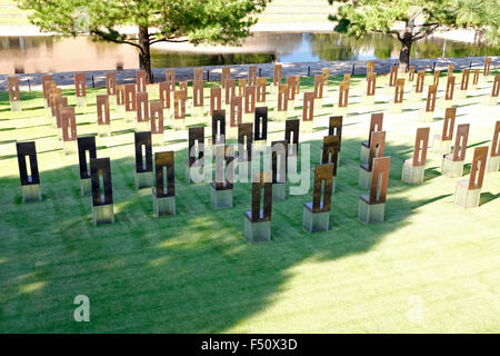 Chairs at Oklahoma City Memorial - Stock Photo